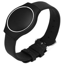 Кожаный ремешок для несоответствия блеск Браслет Деятельность сна Мониторы браслет Цвет: черный