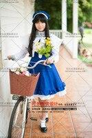 cardcaptor סאקורה kinomoto סאקורה daidouji tomoyo cosplay תלבושות תלבושות קסום שמלה כחולה + גלימה + כובע לבן