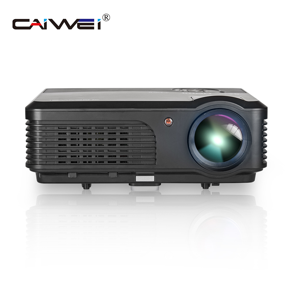 CAIWEI A6 4200 Lumens Full HD 1080P Projector LCD Projector LED TV Projector HDMI Digital Portable Audio Video home theatre aun projector e07 for home theatre education of children 640 480 pixels led projector set in hdmi vga usd prot 1080p led tv