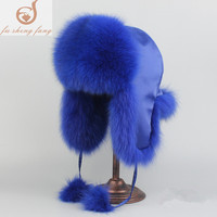 Russian hat 2017 warm winter and thicker hat fur fur fox fur cap really is Lei Feng cap knight ski cap