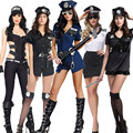 Halloween Purim Adult Sexy Party Costumes Woman Officer Police Costume Uniform Jumpsuit for Women