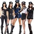 Purim de Halloween Adultos de Disfraces Sexy Mujer Oficial de Policía Traje Uniforme Mono para Las Mujeres
