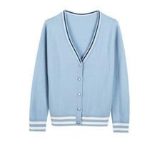 Vneck short cardigan sweater