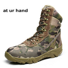 At Ur Hand Men Ankle Boots Camouflage shoes Military Tactical Combat Boots Desert Boots Botas Autumn Winter shoes size 39-45