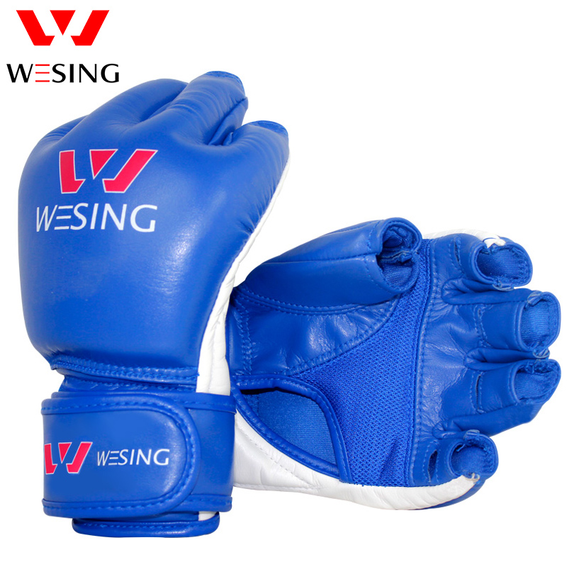 Cheerwing Half Finger Boxing Gloves MMA UFC Sparring Grappling Fight Punch Ultimate Mitts Leather Gloves  цены