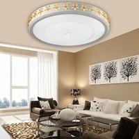 master Ceiling lamp bedroom lamp crystal living room warm romantic dining room electrodeless lamp Ceiling Lights FG81