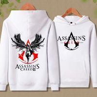 Projeto fresco Assassins Creed Hoodies Ao Ar Livre Unidade Estudante Meninos Adolescentes Esporte Moletom Branco Anjo Moletom Com Capuz 61907
