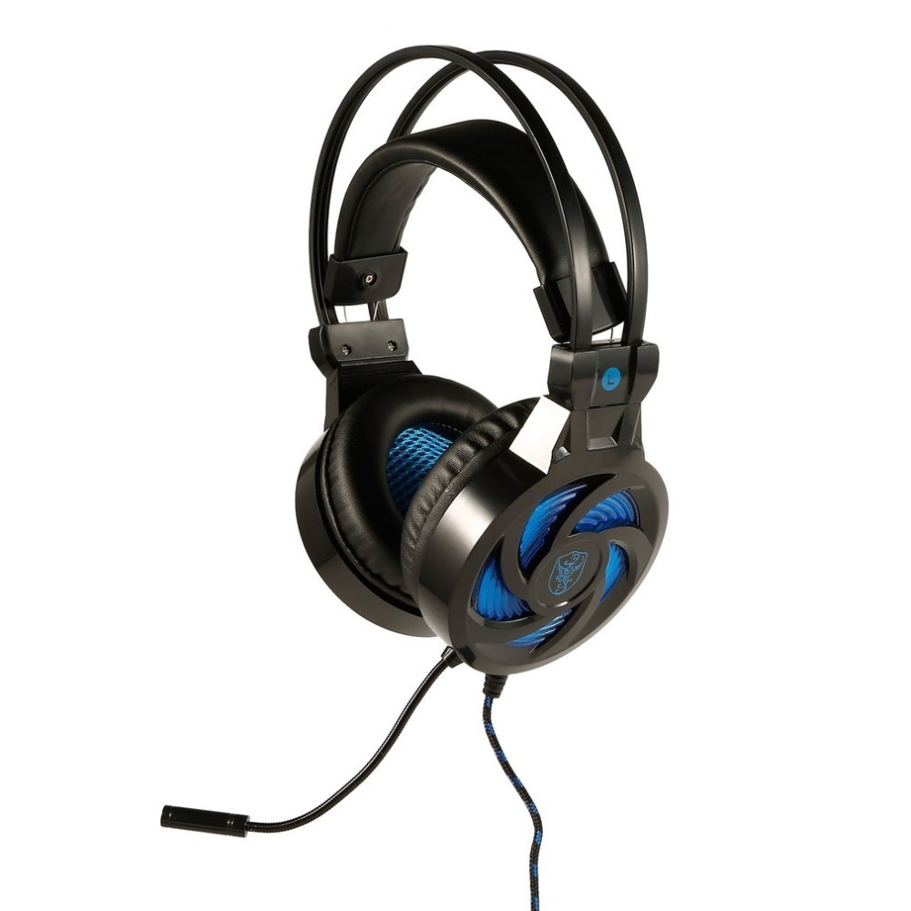 SY855MV Gaming Headset with Mic-Sound Clarity Noise Reduction Headphone LED Lights for Computer Game for PS4/XBOX-ONE