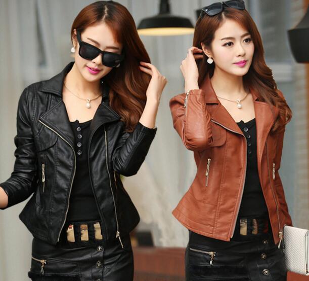 f626d1b2c1a short leather jacket plus size M-4XL bomber jacket women 2017 womens  jackets motorcycle pu leather jacket women bomber feminina