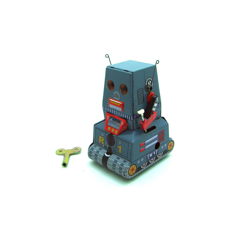 Classic Vintage Clockwork Wind Up Tank Robot Adult Collection Children Tin Toys With Key Fun Toy Gift For Children