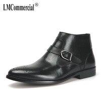 Bullock/мужские Ботинки martin, осенне зимняя обувь с высоким берцем, ковбойские ботинки на молнии в стиле ретро, мужские ботинки челси из воловьей