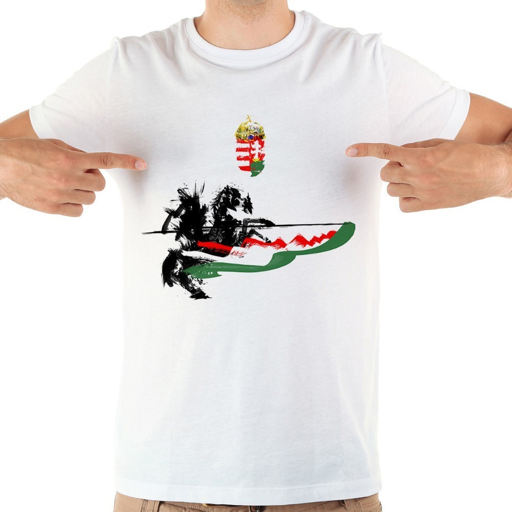 Hungary Cavalry Knight Artistic T Shirt Men 2018 Summer New White Casual Homme Cool Hungarian Hussar Tshirt