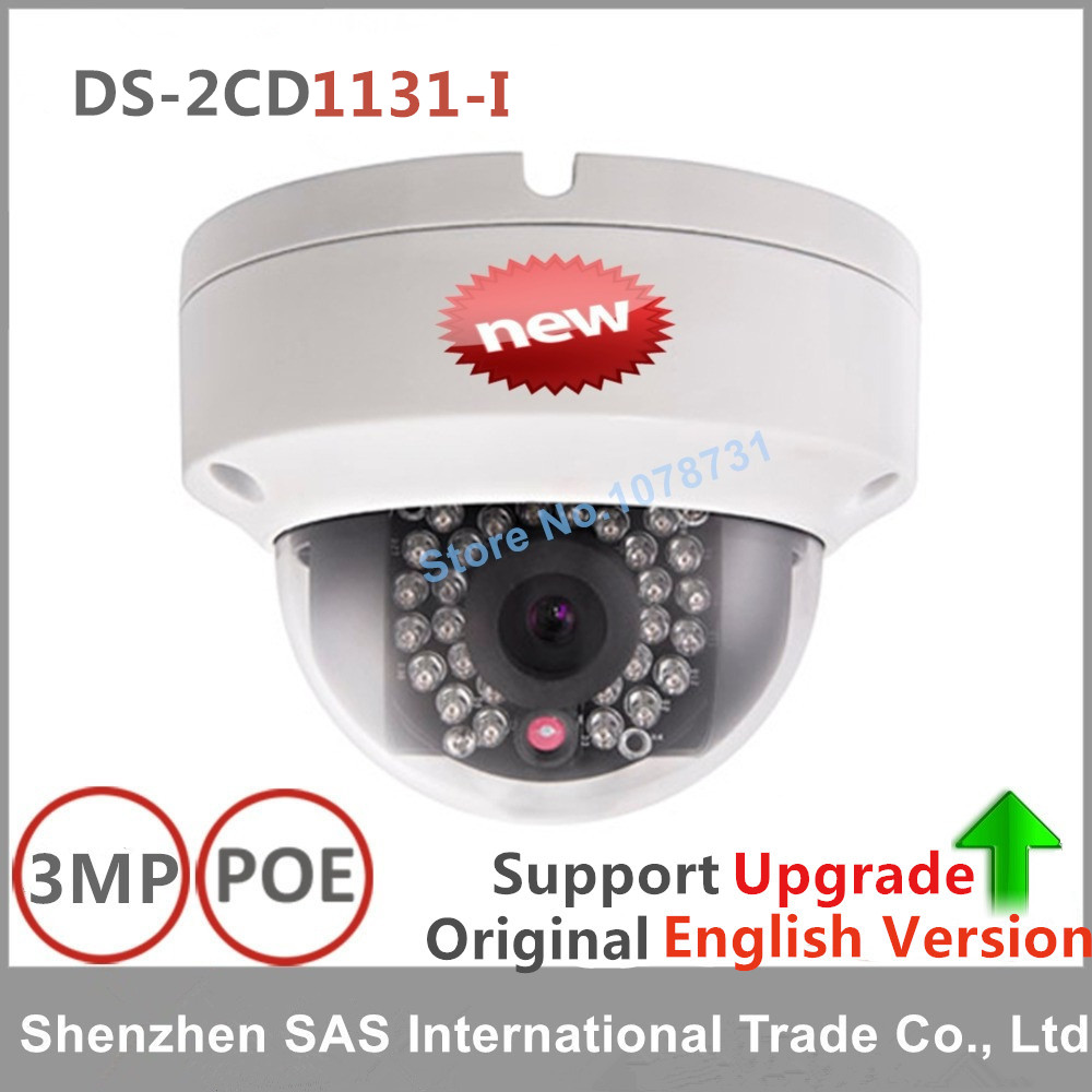 Hikvision Original English Version DS-2CD1131-I Replace DS-2CD2135F-IS CCTV IP Camera 3MP PoE EZVIZ IR 30M Day/night Waterproof hikvision original english version ds 2cd2125fwd i cctv ip camera 2mp poe ezviz ir 30m day night waterproof outdoor