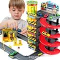 Asamblea kids toys vehículo neumático de estacionamiento de varios pisos coche clásico juguete transformación de juguetes figuras de acción regalos de juguetes para los niños