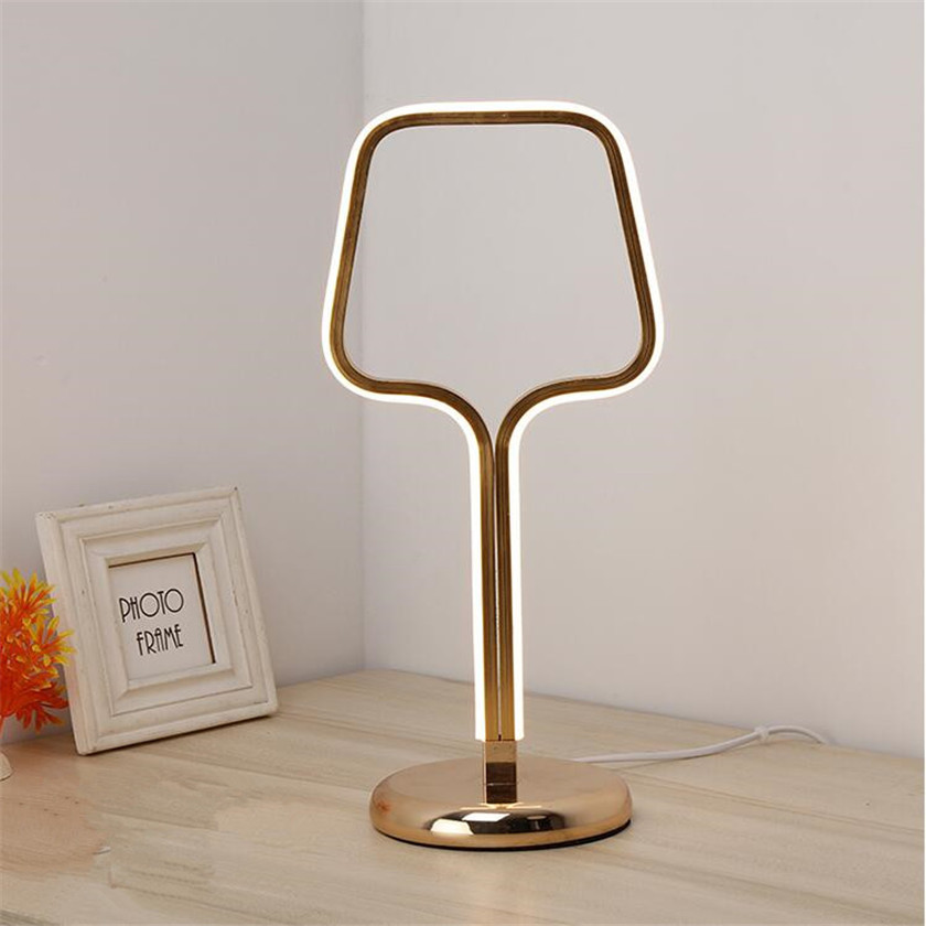 Minimalist Art led Table Lamps Bedside Home Lighting  Desk Lamp EU/US Plug Fashion Wedding Bedroom Living room Abajur de mesa tuda glass shell table lamps creative fashion simple desk lamp hotel room living room study bedroom bedside lamp indoor lighting