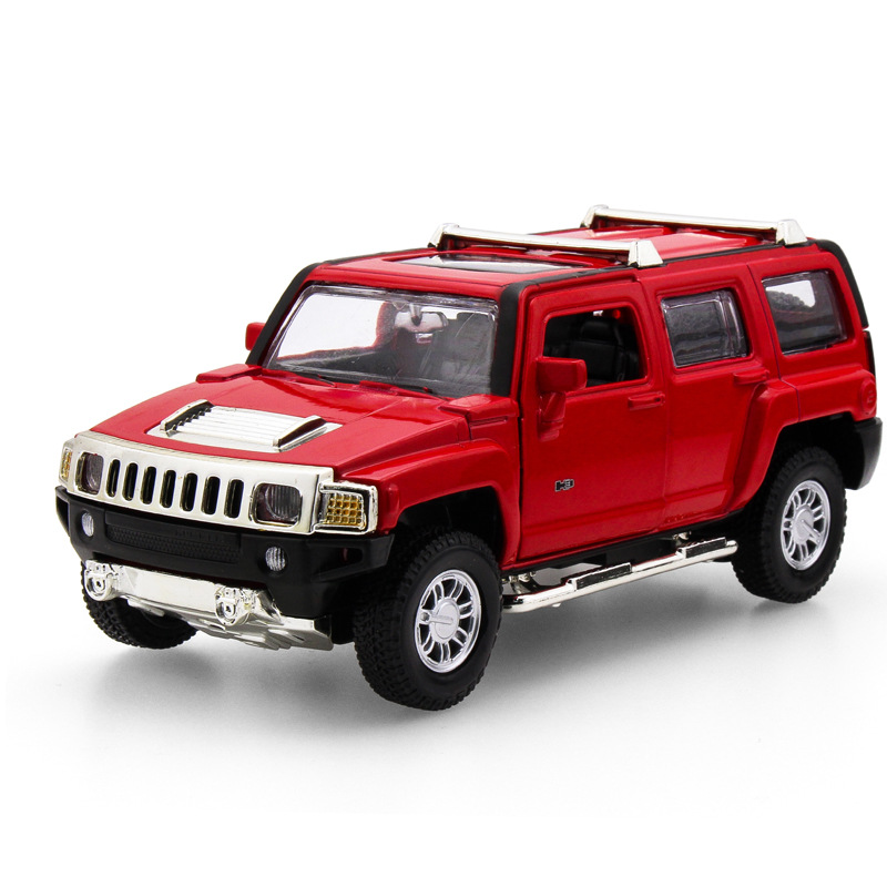 2017 Hot sell 1:32 H3 SUV Jeep Diecast Alloy Metal Luxury Car Model Collection Model Pul ...