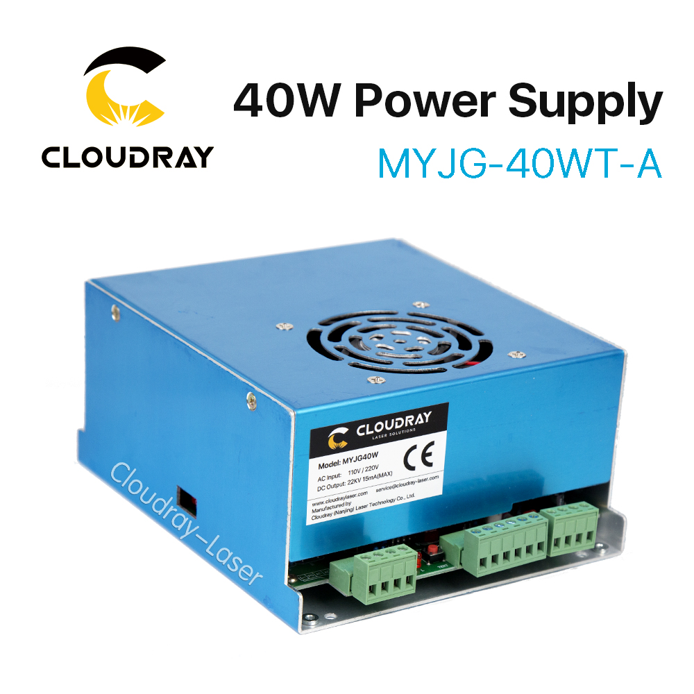 Cloudray 40W CO2 Laser Power Supply MYJG 40WT 110V/220V for Laser Tube Engraving Cutting Machine Model A cloudray 50w co2 laser power supply for co2 laser engraving cutting machine myjg 50w