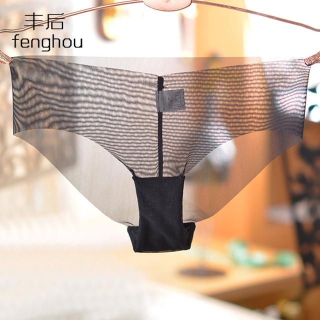 Thin  underwear  one-piece seamless temptation transparent briefs