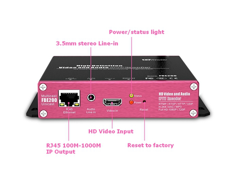 US $165 0 |FMUSER H 264/H 265 IPTV Encoder RTMP HLS M3U8 HD To IP Encoder  For Video Live Streaming Facebook Youtube Wowza, LAN Connection-in Radio &