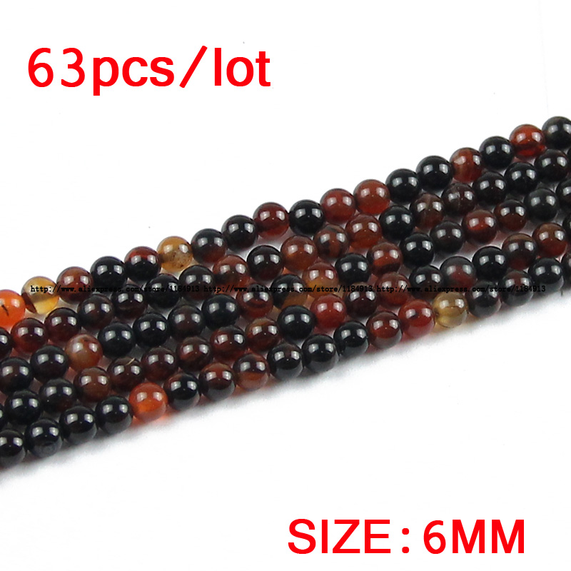 JHNBY Dream agata Carnelian Natural Stone Round Loose beads 4/6/8/10 - Bisutería - foto 3