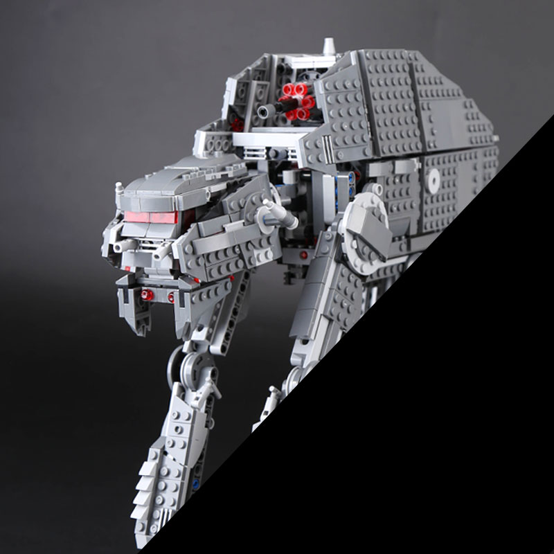 Lepin 05130 Stars Series war the First order heavy assault walker Set 1541Pcs Building Blocks Bricks  Christmas Gifts 75189 rollercoasters the war of the worlds