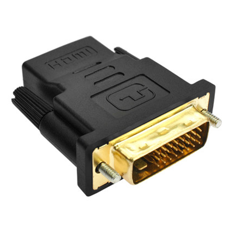 DVI 24+1 To HDMI Adapter Cables 24k Gold Plated Plug Male To Female HDMI To DVI Cable Converter 1080P For HDTV Projector Monitor techlink wiresnx hdmi plug to dvi plug 5m 690305