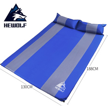 Hewolf 2 Person Air Mattress Camping Bed Mat Thick 3CM Automatic Inflatable Cushion Sleeping Pad Airbed Inflatable Mattress цена 2017
