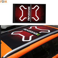 Large Roof Window Sunroof Protective Wrap Vinyl Graphics Decals Sticker For Jeep Renegade 2014 2018 2019