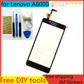 Free DIY Tools+Original New Touch Screen for Lenovo A6000 Glass Capacitive sensor for Lenovo A6000 Touch Screen panel Black