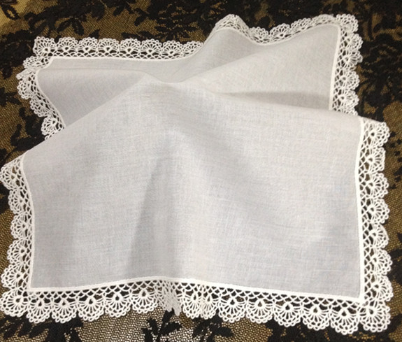 Set Of 12 Fashion Women's Handkerchiefs White Cotton Crochet Lace Wedding Handkerchief  Hankies Hanky For Bridal Gifts 12-inch