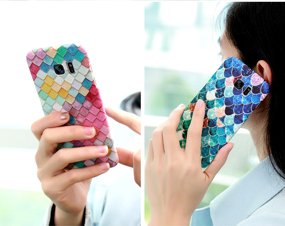 3D Scales Colorful Case For Phone 6 5 6S 7 Plus  (12)