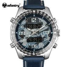 Пехота Военная Униформа часы светодио дный мужчин светодиодный цифровой кварцевые для мужчин s часы лучший бренд класса люкс Авиатор Армия Пилот