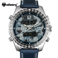 INFANTRY Military Watch Men LED Digital Quartz Mens Watches Top Brand Luxury Aviator Army Pilot Sport Blue Relogio Masculino