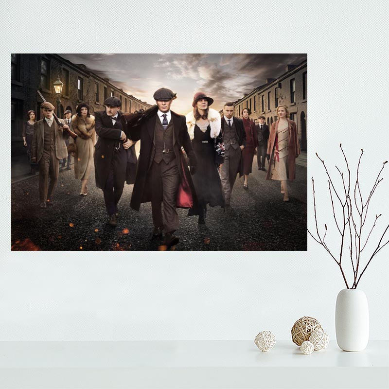 Custom Peaky Blinders Canvas Painting Poster Home Decor Cloth Fabric Wall Art Poster