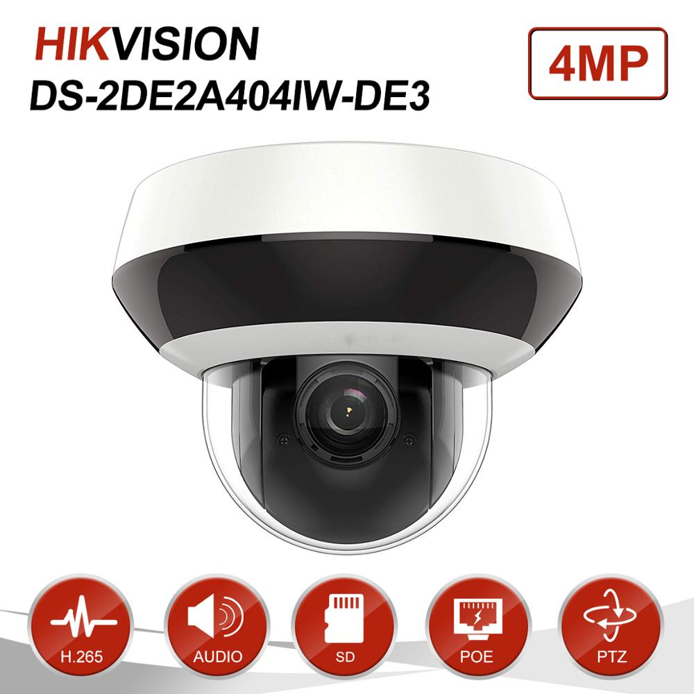 Image 2 - Hikvision 4MP 2.8 12mm 4x Dome PTZ IP Camera PoE Audio SD Card Slot Outdoor Weatherproof CCTV Surveillance DS 2DE2A404IW DE3-in Surveillance Cameras from Security & Protection