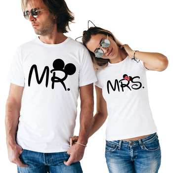 4924eae978 2018 Lovers Couple T Shirt Women Men Newest Valentines Gift Printing Mrs  Mrs Couple Summer Matching Clothes for Lovers
