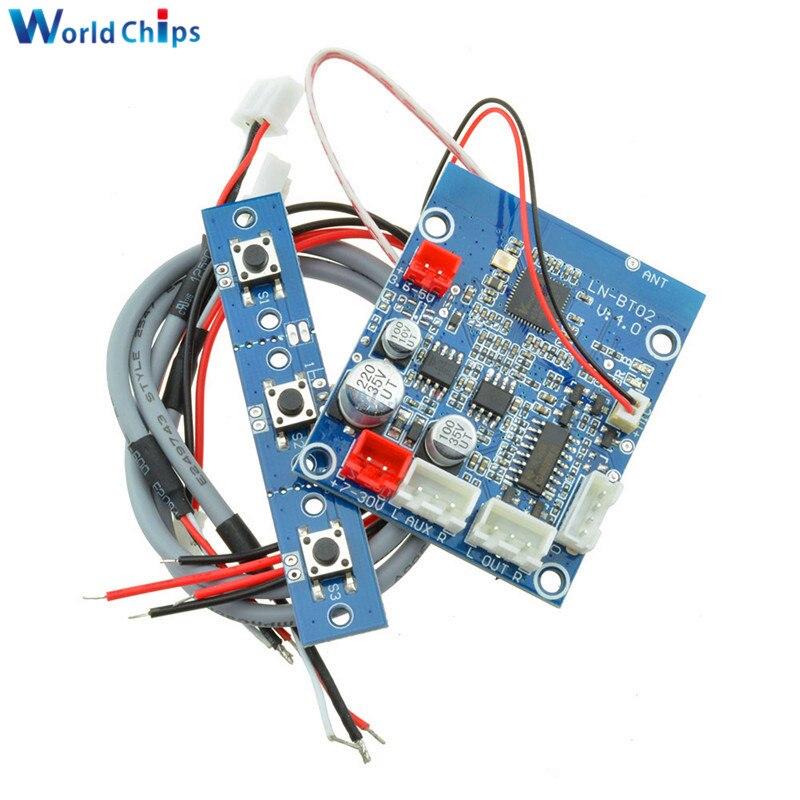 Placa receptora de Audio Bluetooth 4,0/3,0 para coche, módulo de sonido estéreo inalámbrico, compatible con amplificador Bluetooth, altavoces para bricolaje, 1 Juego