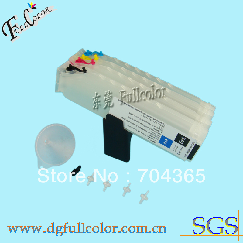 Free shipping!  Long Refillable ink cartridge for HP officejet Pro L7780 inkjet printer cartridge with chip and pumps refillable color ink jet cartridge for brother printers dcp j125 mfc j265w 100ml