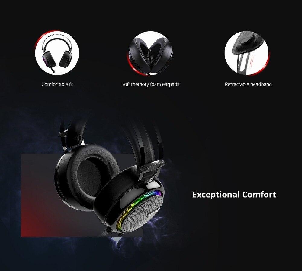 Tronsmart Glary Gaming Headset ps4 headset Virtual 7.1,USB Interface Gaming Headphones for xbox,nintendo switch,computer,Laptop 03