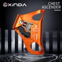 XINDA 야외 캠핑 암벽 등반 가슴 Ascender 안전 로프 오름차순 방지 생존 수직 로프 등반 장비