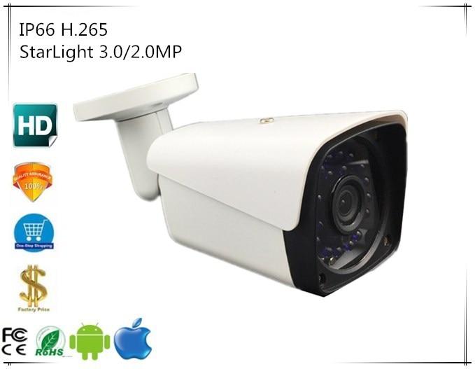 IP Bullet Camera StarLight 3516E C Sony IMX291 3 0 2 0MP IP66 Waterproof 1080P H