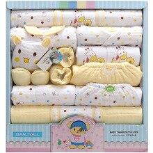 18Pcs/Lot 2019 Newborn Baby Girl Clothes Autumn Gift Box Set Thick Cotton O-neck Character Boy