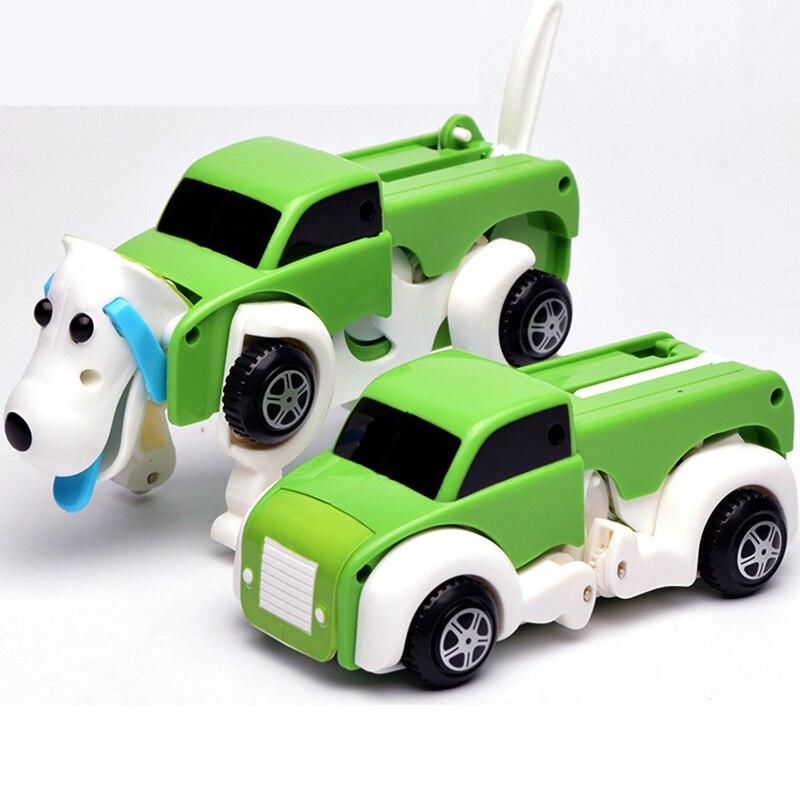 Freies Verschiffen 14 CM Kühlen Automatische Verwandeln Hund Auto Fahrzeug Uhrwerk Wind Up Spielzeug für Kinder kinder Jungen Mädchen Spielzeug Geschenk ZJD