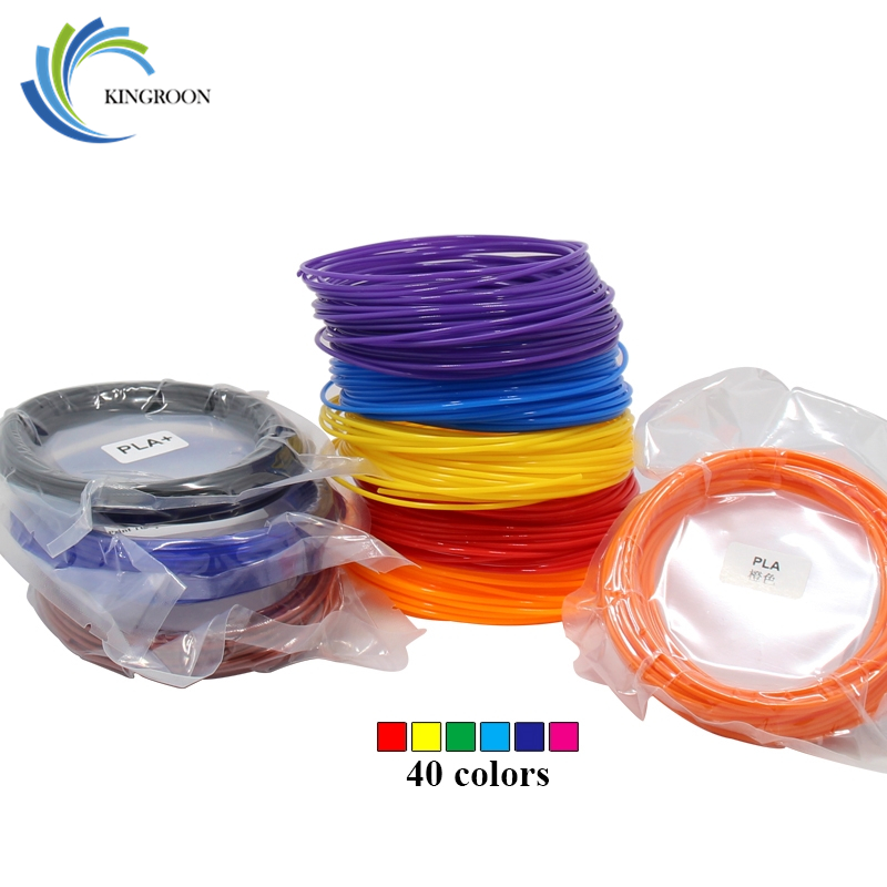 5pcs/lot 10M PLA Filament 1.75mm Printing Materials For 3D Printers / Pen 15 Colors Plastic Accessories Black White Red Blue DIY pla 1 75mm filament 1kg printing materials colorful for 3d printer extruder pen rainbow plastic accessories black white red gray