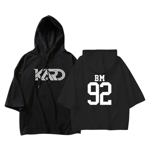 US $12 98 30% OFF|BTS KPOP Korean K A R D KARD BM J Seph JIWOO SOMIN Cotton  Thin Three Quarter Hoodies Pullovers Hip Hop Hoodies Sweatshirts Women-in