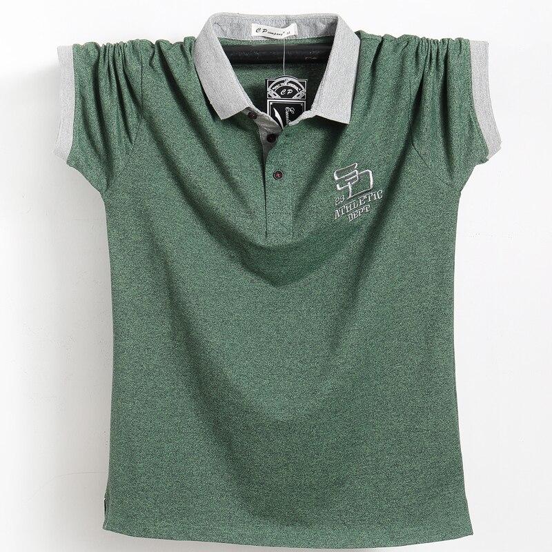 Polo com Listras Laterais de Algodão Camisa Polo Masculina Tamanho Grande Camisetas Masculinas Topos