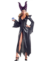Sexy Adult Witch Costume Faux Leather Halloween Witch Dress Sexy Costumes For Women Halloween Christmas Costume