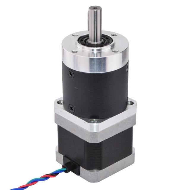 Nema 17 Stepper Motor L=39mm Gear Ratio 50:1 High Precision Planetary Gearbox 4-lead Extruder Gear Motor 1.68A CNC 3D Printer