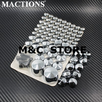 Motorcycle Motorbike Moto Parts Chrome / Black Bolt Caps Topper Cover For Harley Softail Twin Cam 2007&Up