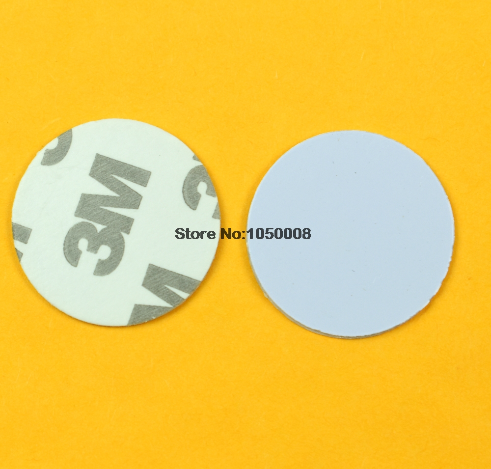 125khz RFID EM4305  3M Adhesive Sticker Coin Card Rewritable Copy Clone Card Diameter 25mm